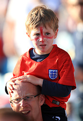 An England fan in facepaint during the International Friendly match at Elland Road, Leeds.