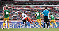 Brentford's David Raya saves from a Preston North End free kick<br /> <br /> Photographer Andrew Kearns/CameraSport<br /> <br /> The EFL Sky Bet Championship - Brentford v Preston North End - Wednesday 15th July 2020 - Griffin Park - Brentford <br /> <br /> World Copyright © 2020 CameraSport. All rights reserved. 43 Linden Ave. Countesthorpe. Leicester. England. LE8 5PG - Tel: +44 (0) 116 277 4147 - admin@camerasport.com - www.camerasport.com