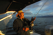 Fishing, Lake Taupo, North Island, New Zealand<br />