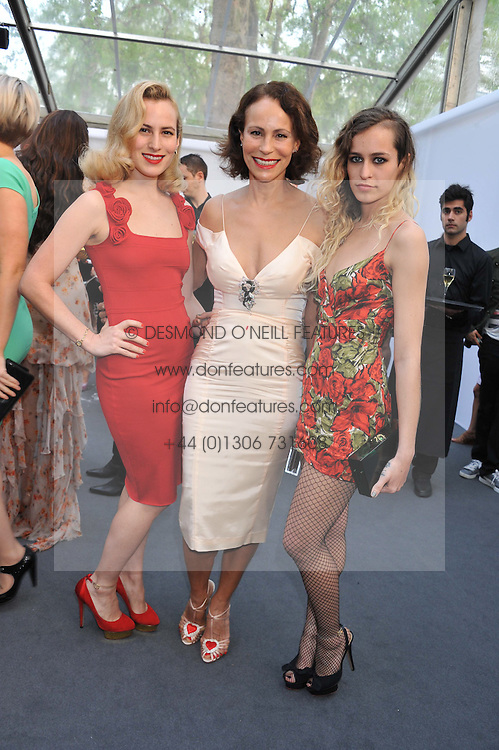 Left to right, CHARLOTTE DELLAL, ANDREA DELLAL and ALICE DELLAL at the Glamour Women of the Year Awards 2012 in association with Pandora held in Berkeley Square Gardens, London W1 on 29th May 2012.