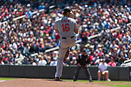 Wei-Yin Chen #16 of the Baltimore Orioles pitches against the Minnesota Twins on May 12, 2013 at Target Field in Minneapolis, Minnesota.  The Orioles defeated the Twins 6 to 0.  Photo: Ben Krause