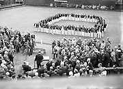 16/07/1952<br /> 07/16/1952<br /> 16 July 1952<br /> Eamon De Valera speaking at opening  day of International Bowling, Clontarf Golf Club Bowling Green, Dublin. The English, Irish, Scottish and Welsh teams.