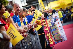Fans waiting before sprejem Tima Gajsreja, on Avgust 27, 2019 in Maribor, Slovenia. Photo by Blaž Weindorfer / Sportida