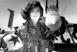 April 18, 2018 - (File Photo) - TAMMIE JO SHULTS during her time with the Navy in 1993. Shults, 56, is being praised for her calm demeanor after her plane suffered a blown engine and she was forced to make a one-engine, emergency landing in Philadelphia with approximately 150 people onboard Tuesday. A woman died and seven others suffered minor injuries in the incident on Southwest Airlines Flight 1380. Previously, Shults was one of the first female fighter pilots in the US Navy. She flew F-18 fighter jets and was accustomed to landing them on aircraft carriers. (Credit Image: © Courtesy of Linda Maloney/Military Fly Moms via ZUMA Wire)