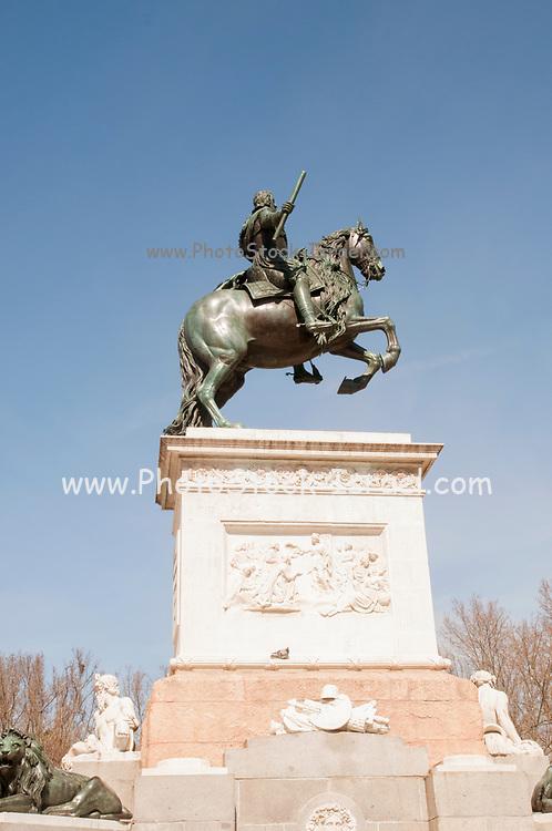 Equestrian statue of King Philip IV of Spain Plaza Oriente Madrid Spain