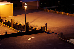 Stock photo of an abstract view of ramps leading to a parking garage