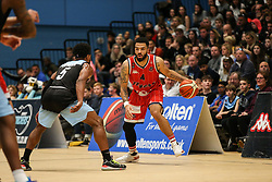 Lewis Champion of Bristol Flyers dribbles with the ball - Photo mandatory by-line: Arron Gent/JMP - 28/04/2019 - BASKETBALL - Surrey Sports Park - Guildford, England - Surrey Scorchers v Bristol Flyers - British Basketball League Championship