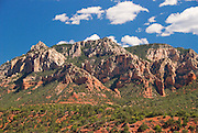 Sedona, USA, Arizona. Red mountain formations. Blue Sky's.