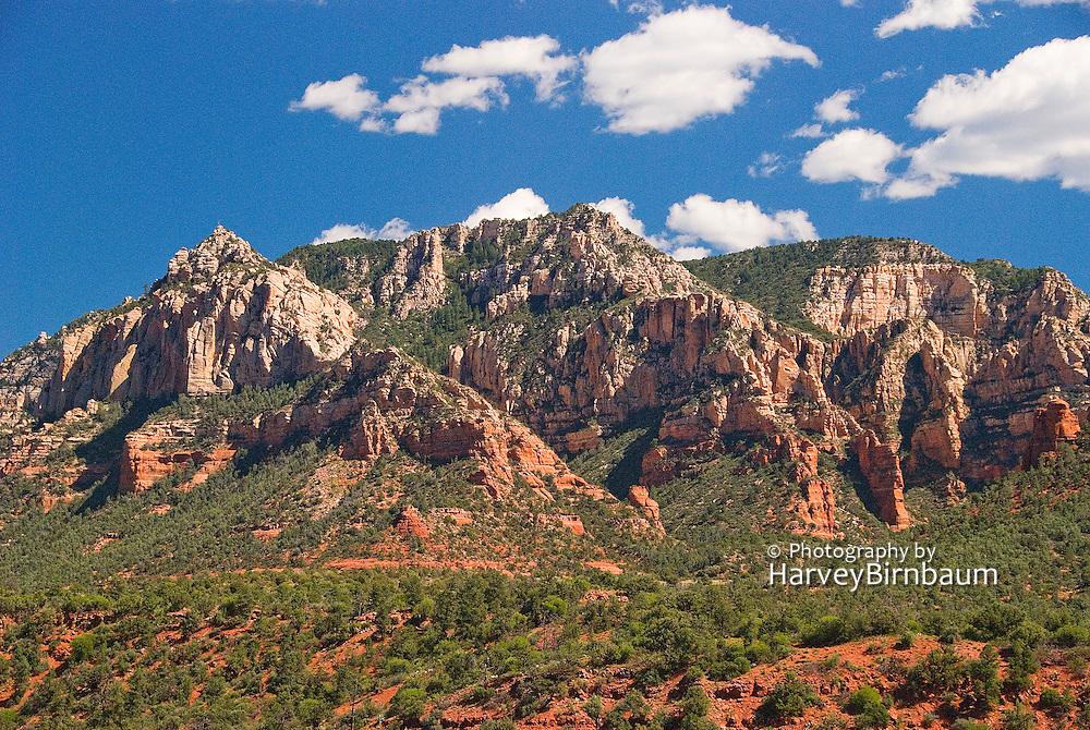 Sedona, USA, Arizona. Red mountain formations. Blue Sky's.