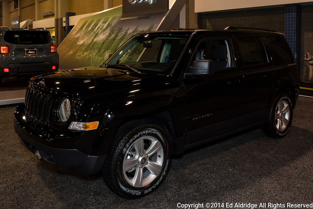 CHARLOTTE, NORTH CAROLINA - NOVEMBER 20, 2014: Jeep Patriot on display during the 2014 Charlotte International Auto Show at the Charlotte Convention Center.