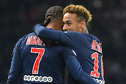 File photo - .Paris Saint-Germain's Brazilian forward Neymar (R) celebrates with Paris Saint-Germain's French forward Kylian Mbappe (L) after scoring a goal during the French L1 football match between Paris Saint-Germain (PSG) and Lille (LOSC) at the Parc des Princes stadium, in Paris, November 2, 2018. Paris St Germain sporting director Leonardo is prepared to sell Neymar after the Brazil forward failed to report for pre-season training. Photo by Christian Liewig/ ABACAPRESS.COM