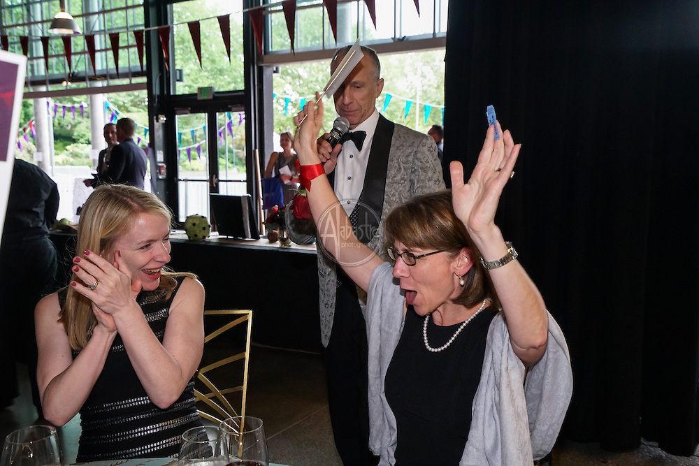 Raffle Winner at Seattle Children's Theatre Gala honoring Linda Hartzell. Photo by Alabastro Photography.