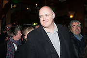 Dara O'Briain, Press night performance of 'Once' at the Phoenix Theatre, Charing Cross Rd, -after party at Waxy O'Connor's, Rupert St. London. 9 april 2013.