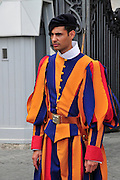 Vatican City, Rome, Italy A Swiss Guard
