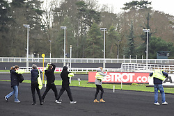 January 13, 2019 - France - Manifestation de Gilets Jaunes sur la piste de l hippodrome de Vincennes (Credit Image: © Panoramic via ZUMA Press)