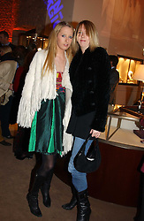 Left to right, sisters the HON.SOPHIA HESKETH and the HON.FLORA HESKETH at a party to celebrate the 2nd anniversary of Quintessentially magazine held at Asprey, Bond Street, London on 24th February 2005.<br />