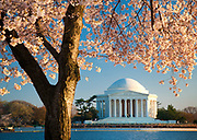 The Thomas Jefferson Memorial is a presidential memorial in Washington, D.C. that is dedicated to Thomas Jefferson, an American Founding Father and the third President of the United States. The neoclassical building was designed by John Russell Pope. It was built by Philadelphia contractor Tyler Nichols. Construction began in 1939, the building was completed in 1943, and the bronze statue of Jefferson was added in 1947.