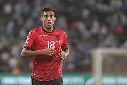 October 14, 2018 - Be'Er Sheva, Israel - Myrto Uzuni of Albania during UEFA Nations League C group 1 match between Israel and Albania at Turner Stadium in Be'er Sheva, Israel, on 14 October 2018. Israel won 2-0. (Credit Image: © Ahmad Mora/NurPhoto via ZUMA Press)