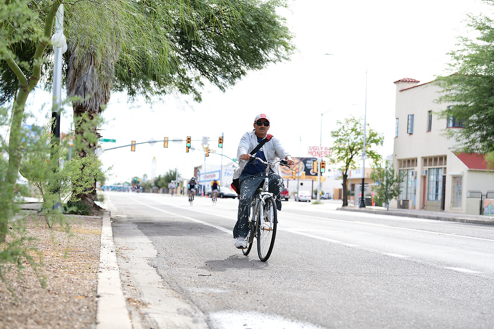 Taking a ride on the Tour de Tucson course. Bike-tography by Martha Retallick.