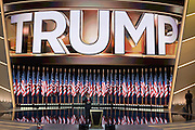 GOP Presidential candidate Donald Trump enters the stage to accept the party nomination for president on the final day of the Republican National Convention July 21, 2016 in Cleveland, Ohio.