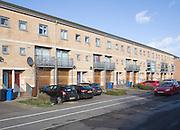 Modern maisonette housing part of the waterside redevelopment Ipswich, Suffolk, England