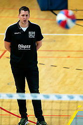 Coach Eric Meijer of Zwolle in action during the first league match between Djopzz Regio Zwolle Volleybal - Laudame Financials VCN on February 27, 2021 in Zwolle.