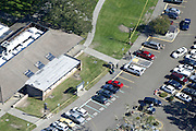 Oct 1, 2015 - Roseburg, Oregon, U.S. - <br /> <br /> This photo shows an aerial view of Umpqua Community College, where a deadly shooting occurred. As many as 13 people were killed and 20 injured when a shooter opened fire at Oregon's Umpqua Community College on Thursday.<br /> ©Exclusivepix Media