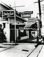 1957 Crescendo Nightclub on Sunset Blvd. in West Hollywood