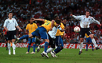 Photo: Tony Oudot.<br /> England v Brazil. International Friendly. 01/06/2007.<br /> Diego of Brazil scores the last minute equalizer