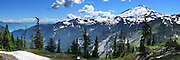 Mount Baker and Baker Lake. Mount Baker-Snoqualmie National Forest and Mount Baker Wilderness, Washington, USA. Panorama stitched from 4 images.