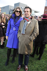 LIZ HURLEY and HENRY DENT-BROCKLEHURST at the 2012 Hennessy Gold Cup at Newbury Racecourse, Berkshire on 1st December 2012