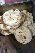 Naan bread at the Haji-Shabrati Nihari wallah, Old Delhi, India