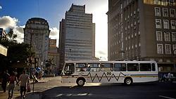 No transporte coletivo na cidade de Porto Alegre, não ocorrem muitos problemas nas linhas de ônibus, porém os engarrafamentos comprometem o fluxo do trânsito. FOTO: Jefferson Bernardes/Preview.com