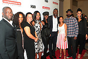 """September 20, 2012- New York, New York:  (L-R) Stacy Spike, Founder, Urbanworld Film Festival, Television Writer/Producer Mara Brock Akil, Debra Lee, President & CEO, BET Networks, Actress Gabrielle Union, Actress Tika Sumpter, Actor Robert Brooks, Gabrielle Glore, Executive Director, Urbanworld Film Festival, Director Salim Akil and Casting Director Tracy """"Twinkie"""" Byrd attend the 2012 Urbanworld Film Festival Opening night premiere screening of  ' Being Mary Jane ' presented by BET Networks held at AMC 34th Street on September 20, 2012 in New York City. The Urbanworld® Film Festival is the largest internationally competitive festival of its kind. The five-day festival includes narrative features, documentaries, and short films, as well as panel discussions, live staged screenplay readings, and the Urbanworld® Digital track focused on digital and social media. (Terrence Jennings)"""