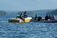"16.4 mile water ski race ""Winniskiathon"" on Lake Winnipesaukee August 19, 2012."