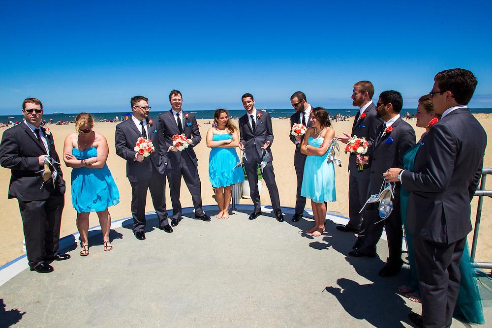 May 24, 2014; Virginia Beach, VA, USA; The Virginia Beach wedding of Ashley and Dom. Mandatory Credit: Peter J. Casey