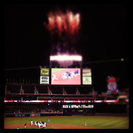 An Instagram of the Minnesota Twins celebrating a walk-off win in the 11th inning against the Detroit Tigers at Target Field in Minneapolis, Minnesota.