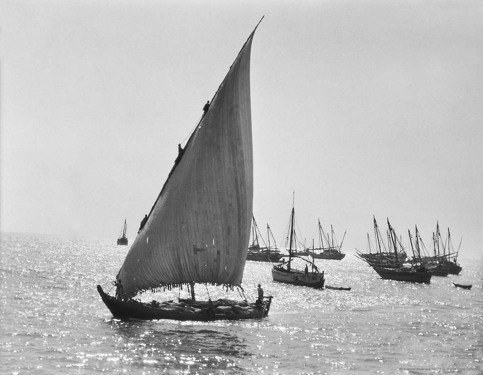 Native Boat, Calicut, India, 1929