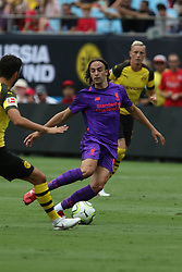 July 22, 2018 - Charlotte, NC, U.S. - CHARLOTTE, NC - JULY 22: Lazar Markovic (50) of Liverpool dodges a defender during the International Champions Cup soccer match between Liverpool FC and Borussia Dortmund in Charlotte, N.C. on July 22, 2018. (Photo by John Byrum/Icon Sportswire) (Credit Image: © John Byrum/Icon SMI via ZUMA Press)