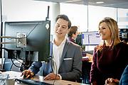 Koningin Maxima brengt dinsdagochtend 29 januari 2019 een werkbezoek aan AFAS Software in Leusden. AFAS is winnaar van de Koning Willem I Prijs in de categorie grootbedrijf. Deze prijs beloont durf, daadkracht, duurzaamheid en doorzettingsvermogen en stimuleert creatief en innovatief ondernemerschap<br /> <br /> Queen Maxima will make a working visit to the AFAS Software in Leusden on Tuesday morning, January 29, 2019. AFAS is the winner of the Koning Willem I Prize in the large company category. This award rewards courage, decisiveness, sustainability and perseverance and stimulates creative and innovative entrepreneurship