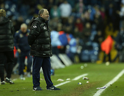 Yeovil Town Manager, Gary Johnson just stares as the final whistle blows-Photo mandatory by-line: Matt Bunn/JMP - Tel: Mobile: 07966 386802 02/11/2013 - SPORT - FOOTBALL - Elland Road - Leeds - Leeds United v Yeovil Town - Sky Bet Championship