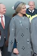 Staatsbezoek Denemarken - Dag 1. Aankomst van het Koninklijk gezelschap op vliegveld Kastrup<br /> <br /> State visit Denmark - Day 1. Arrival of the Royal Family at Kastrup airport<br /> <br /> op de foto / On the photo:  Koningin Maxima