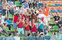 RIO DE JANEIRO  (Brazilië) - supporters Belgium  during the poulematch hockey men Belgium v Great Britain (4-1),   Olympic Games 2016 . Copyright Koen Suyk