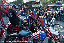 California Hell Riders Wall of Death at the Iron Horse Saloon in Ormond Beach during Daytona Bike Week. FL, USA. March 10, 2014.  Photography ©2014 Michael Lichter.