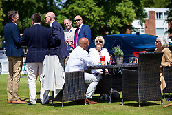 LIVERPOOL, ENGLAND - Thursday, June 21, 2018: Guests outside the corporate hospitality tent during day one of the Williams BMW Liverpool International Tennis Tournament 2018 at Aigburth Cricket Club. (Pic by Paul Greenwood/Propaganda)