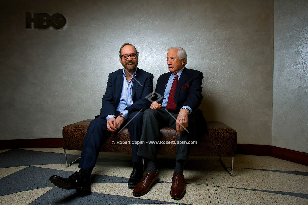 """Actor Paul Giamatti and author David McCullough pos for a portrait in the HBO building in New York, U.S. 2/1/08. The pair worked together on the HBO mini-series """"John Adams"""""""
