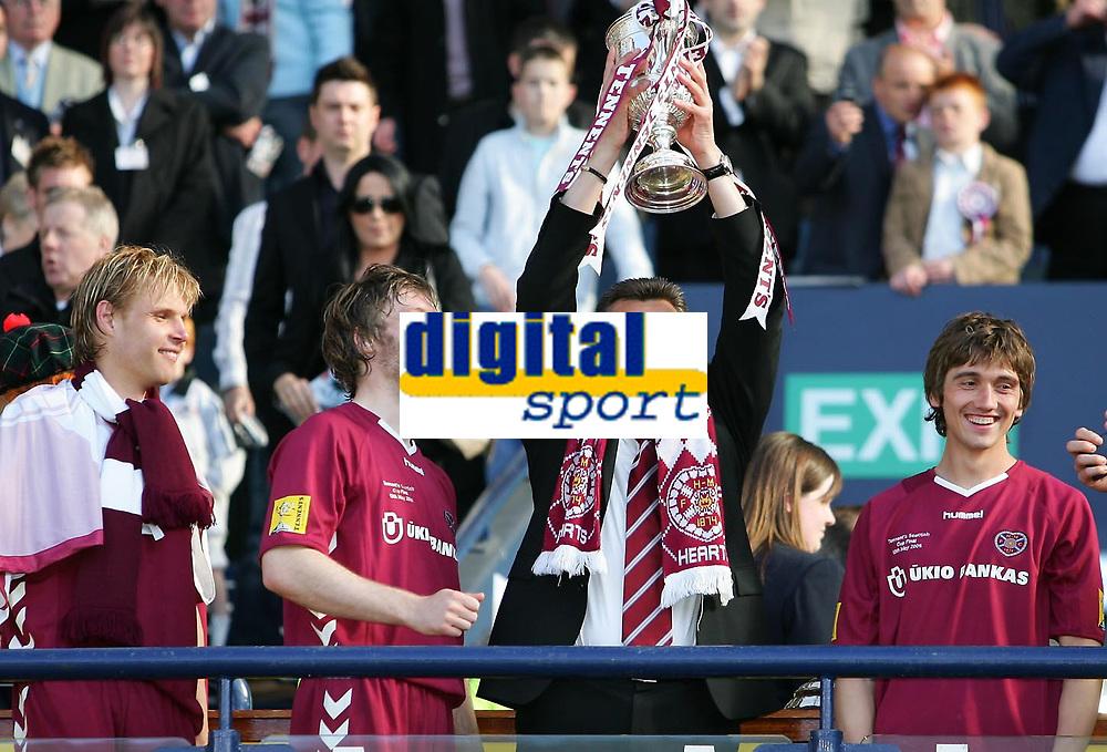 Photo: Andrew Unwin.<br /> Hearts v Gretna. Tennants Scottish Cup Final. 13/05/2006.<br /> Hearts' manager, Valdas Ivanauskas, celebrates.