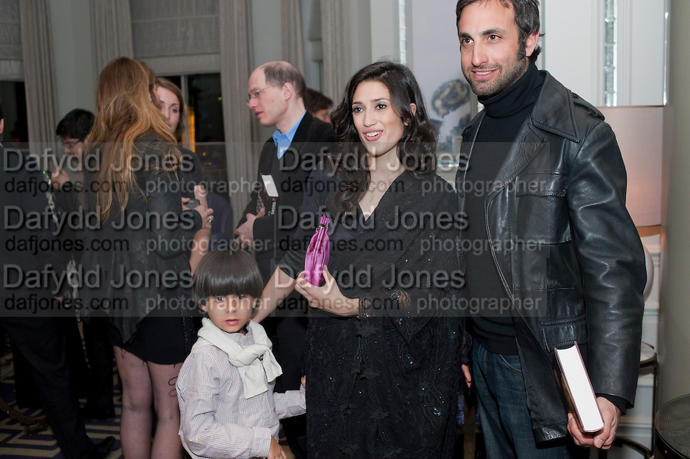FATIMA BHUTTO; TIM SAMUELS, Henry Porter hosts a launch for Songs of Blood and Sword by Fatima Bhutto. The Artesian at the Langham London. Portland Place. 15 April 2010.  *** Local Caption *** -DO NOT ARCHIVE-© Copyright Photograph by Dafydd Jones. 248 Clapham Rd. London SW9 0PZ. Tel 0207 820 0771. www.dafjones.com.<br /> FATIMA BHUTTO; TIM SAMUELS, Henry Porter hosts a launch for Songs of Blood and Sword by Fatima Bhutto. The Artesian at the Langham London. Portland Place. 15 April 2010.