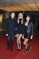 Left to right, CHRISTOPHER KANE, ANNA DELLO RUSSO and BIP LING at the Vogue Festival Party 2013 in association with Vertu held at the Queen Elizabeth Hall, Southbank Centre, London SE1 on 27th April 2013.