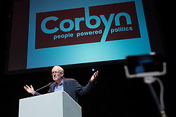 © Licensed to London News Pictures . 23/07/2016 . Salford , UK . Jeremy Corbyn launches his campaign to be re-elected Labour Party leader , at the Lowry Theatre at Salford Quays . Photo credit : Joel Goodman/LNP